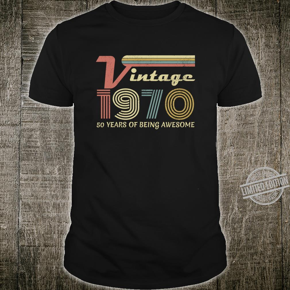 Made in 1970, Vintage 50 Years Old, 50th Birthday Shirt