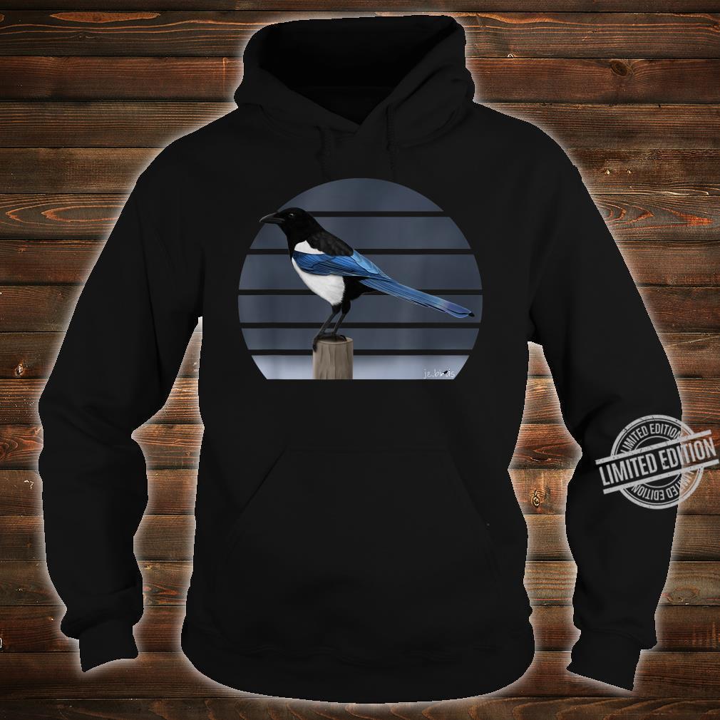 Magpie Drawing Bird Watching Animal Illustration Shirt hoodie