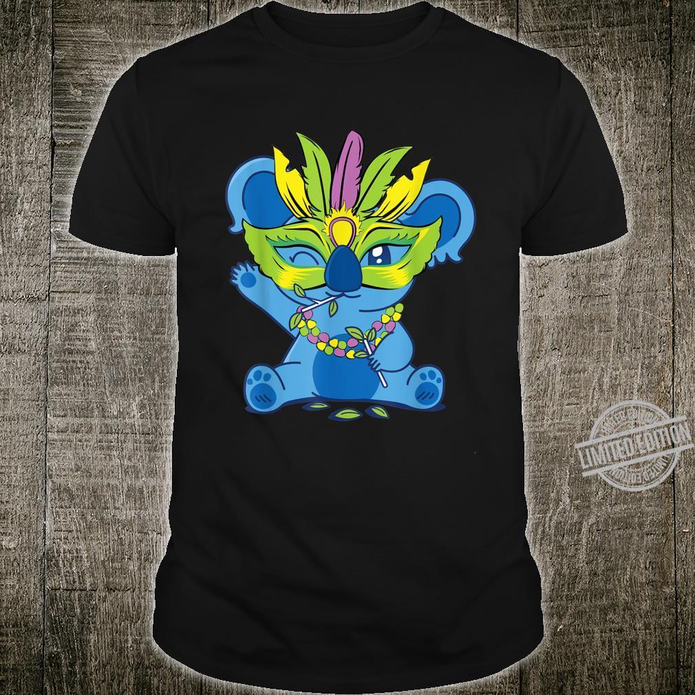 Mardi Gras Baby Koala Bead Mask Carnival Costume Shirt