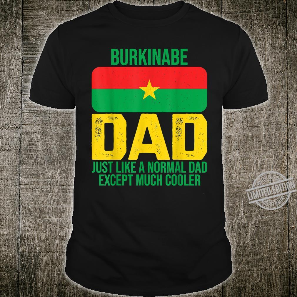 Mens Burkinabe Dad Burkina Faso Flag Design For Father's Day Shirt
