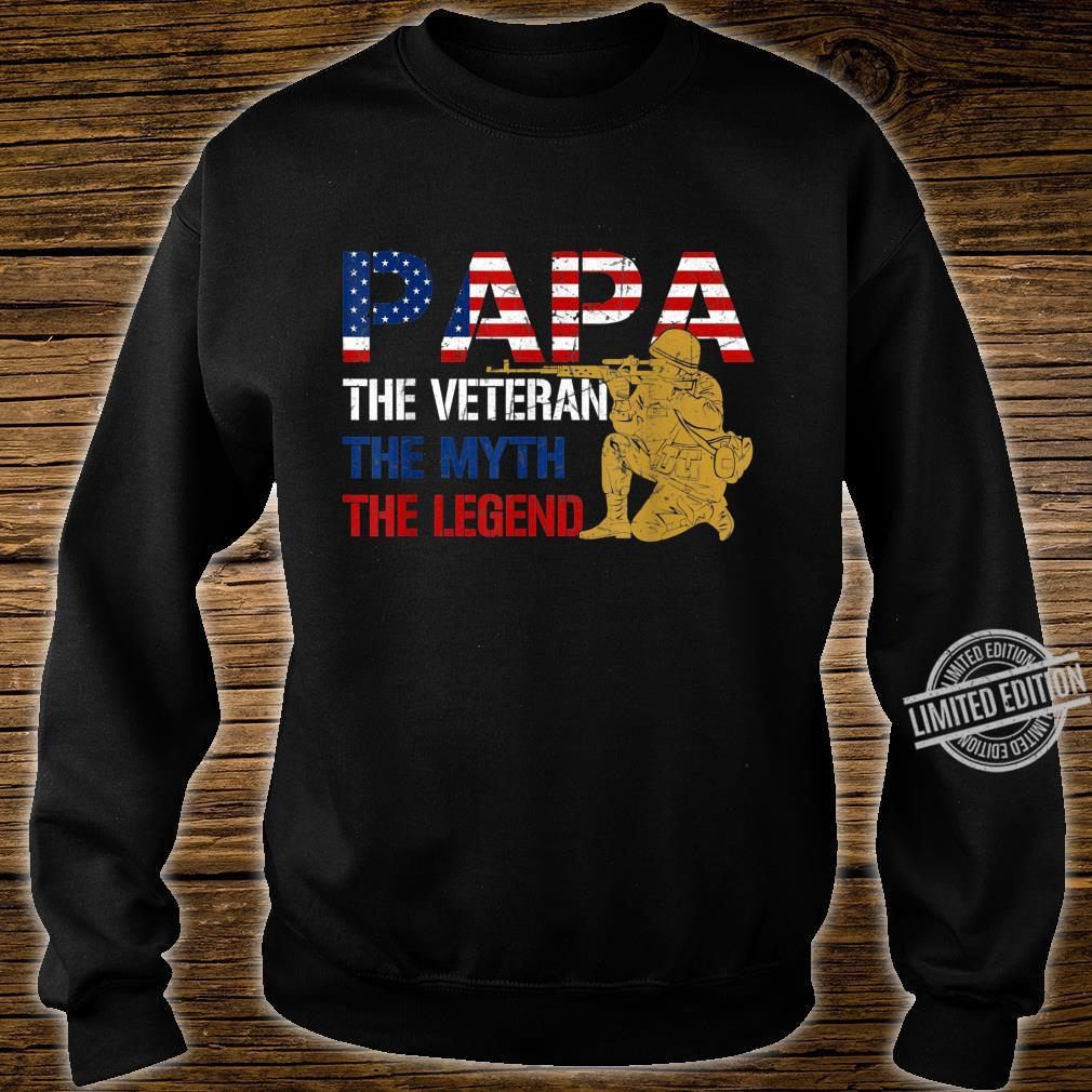 Mens Father's Day Distressed Papa Veteran Myth Legend Shirt sweater