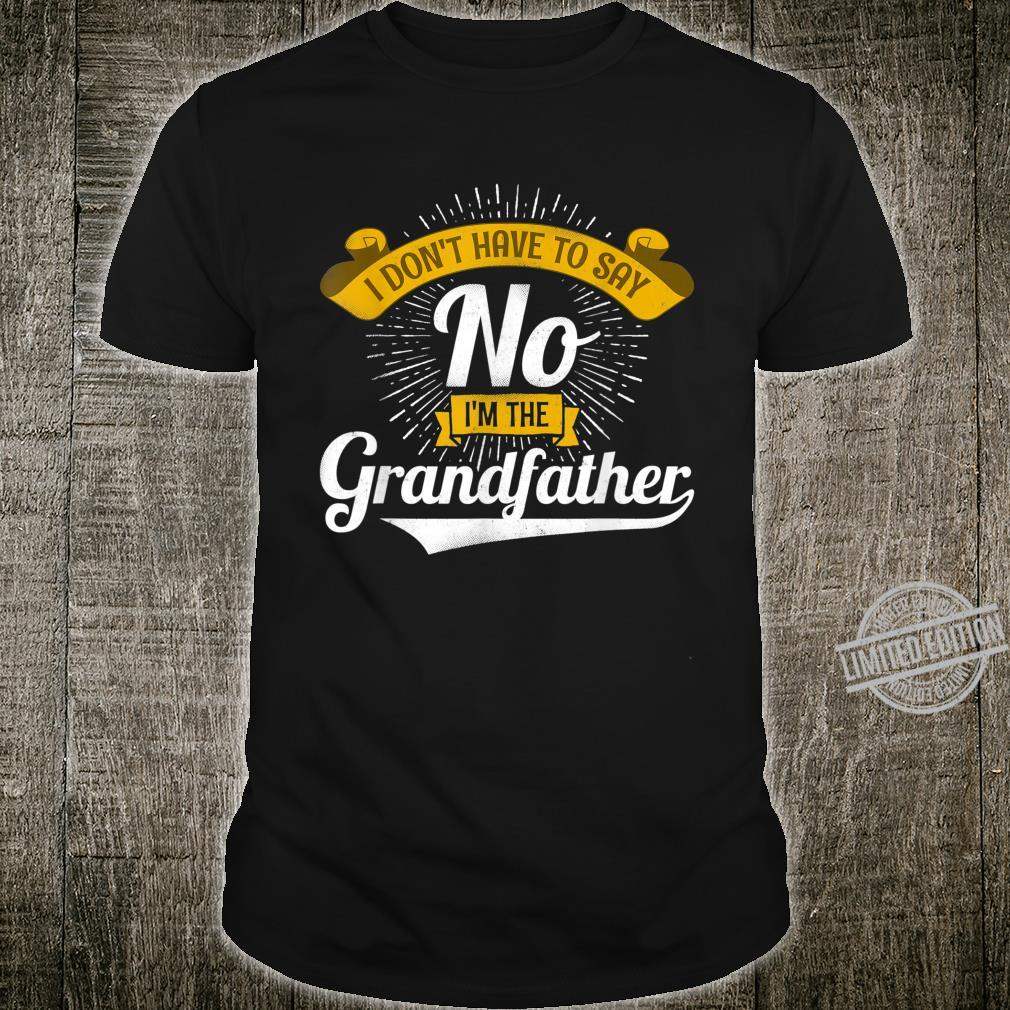 Mens Granddad Grandfather for Father's Day Shirt
