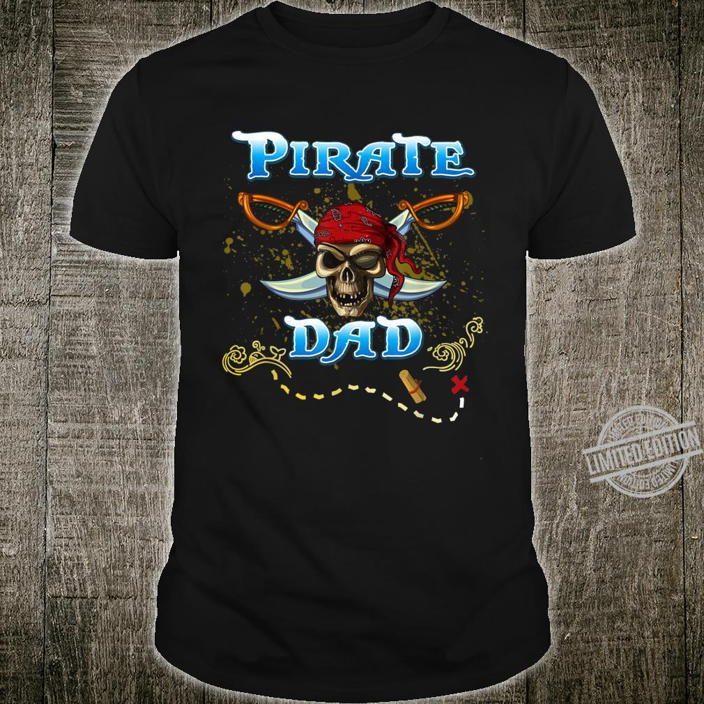Mens Pirate Dad Family Matching Pirate outfit Birthday Shirt