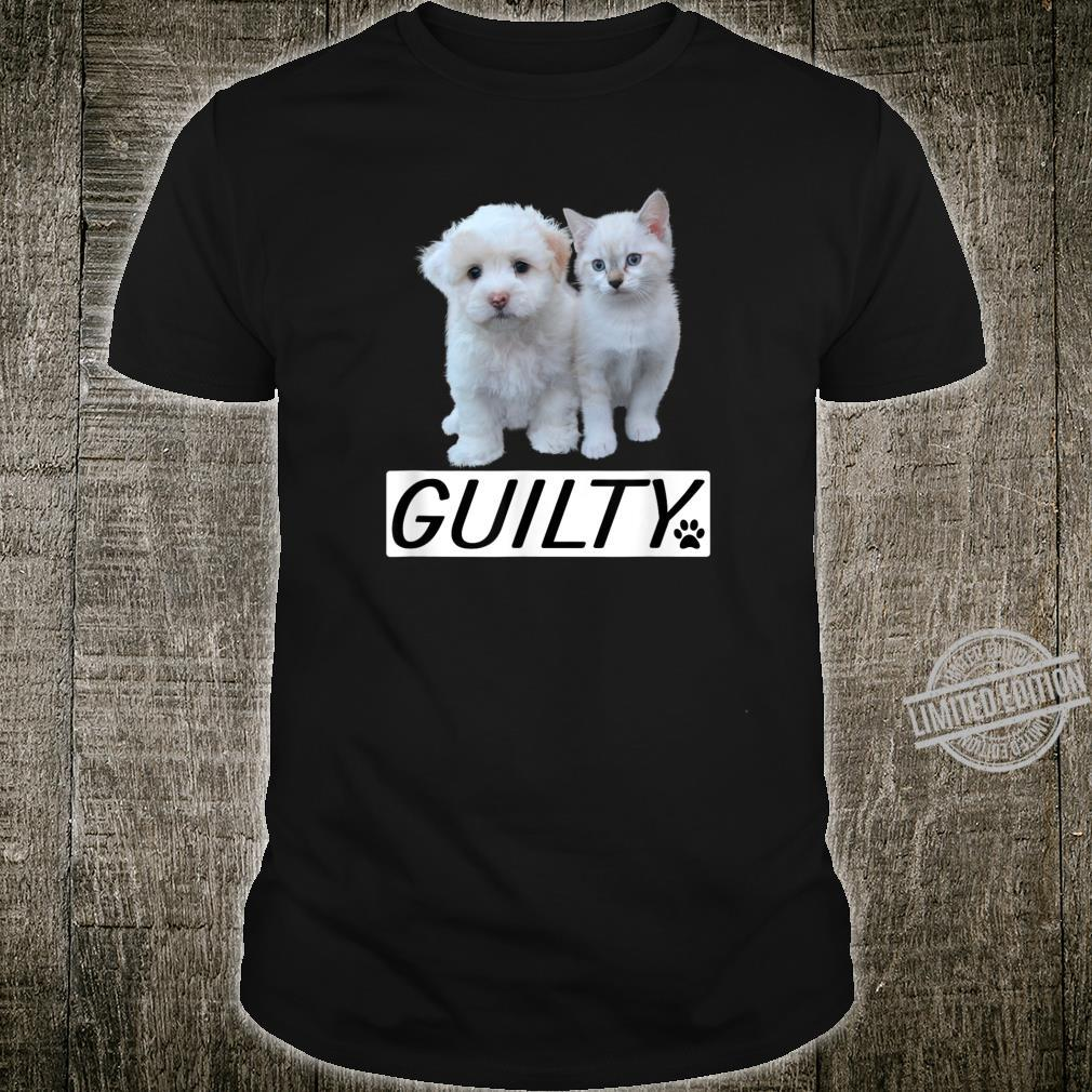 Pets Animals Cute Cats And Cute Dogs Guilty Cat Mom Dog Dad Shirt