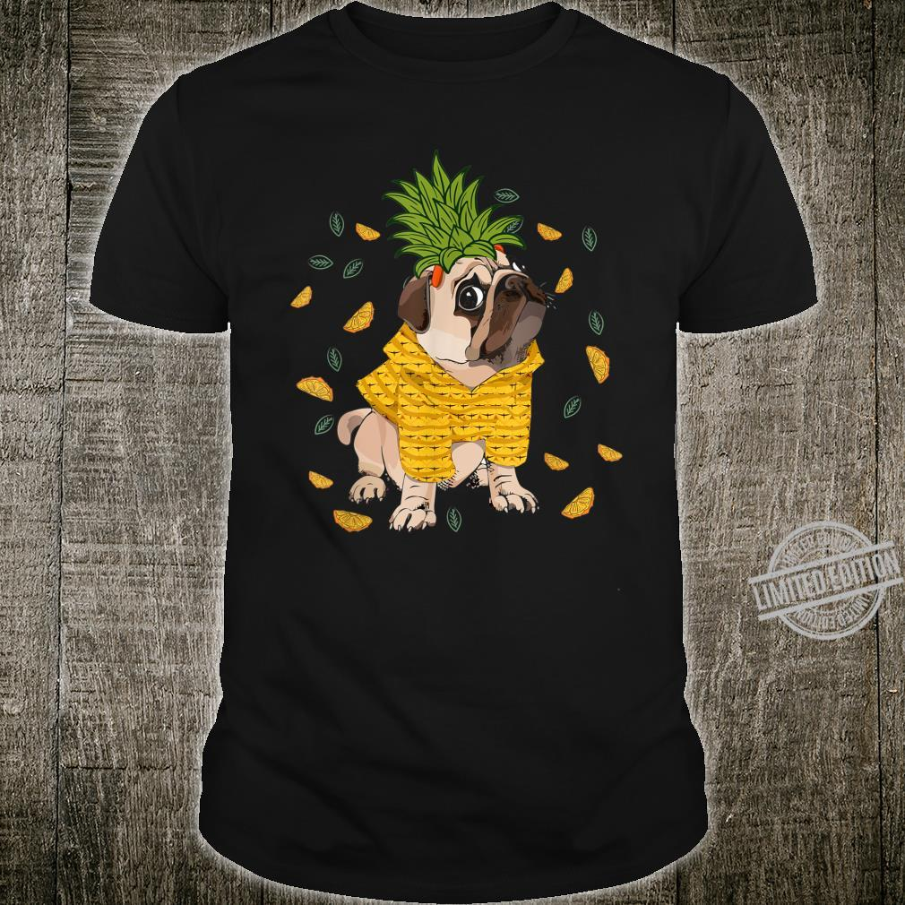 Pineapple Pug Tropical Summer Pup Animal Dog Shirt