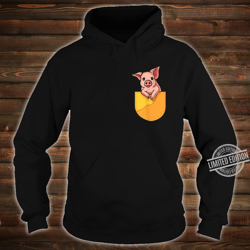 Pink Pig in Your Pocket Adorable Sassy Cute Piggy Design Shirt hoodie
