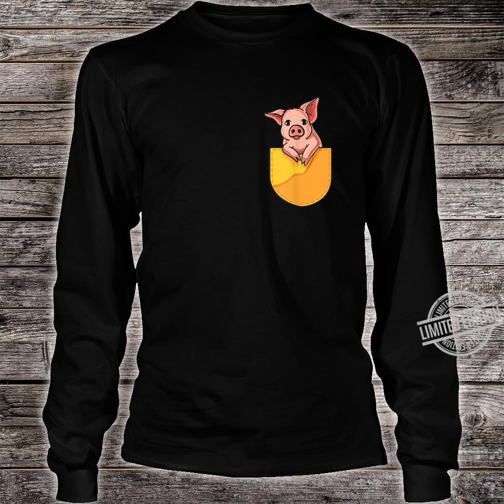 Pink Pig in Your Pocket Adorable Sassy Cute Piggy Design Shirt long sleeved