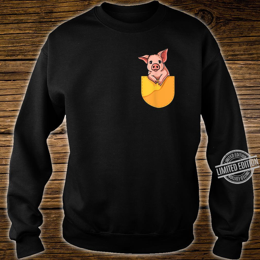 Pink Pig in Your Pocket Adorable Sassy Cute Piggy Design Shirt sweater