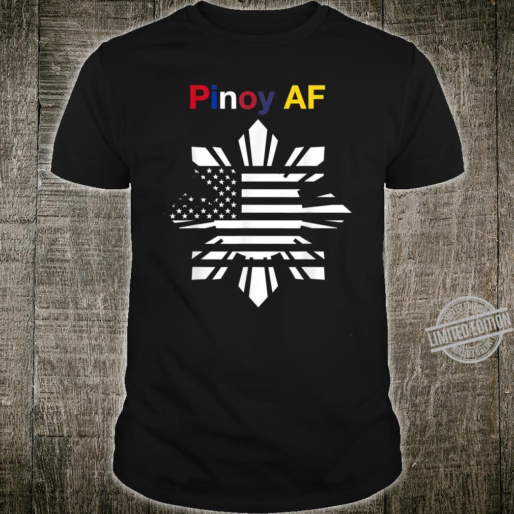 Pinoy AF FilipinoAmerican Sun, Stars & Stripes Flag Shirt