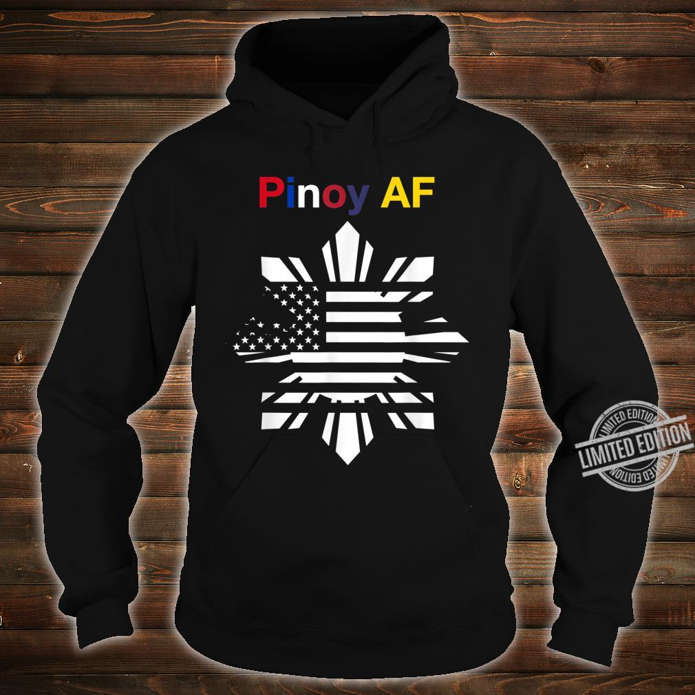 Pinoy AF FilipinoAmerican Sun, Stars & Stripes Flag Shirt hoodie