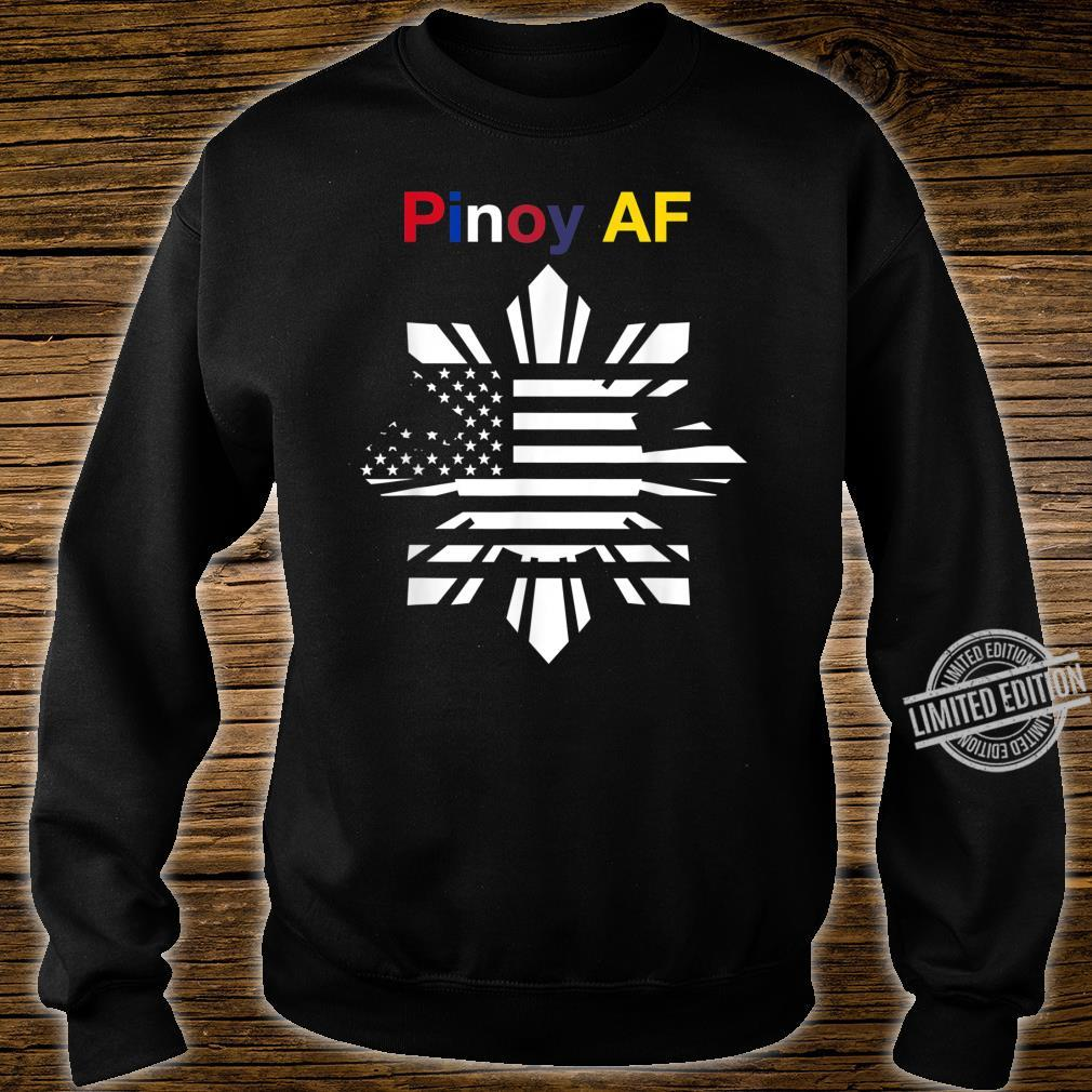 Pinoy AF FilipinoAmerican Sun, Stars & Stripes Flag Shirt sweater