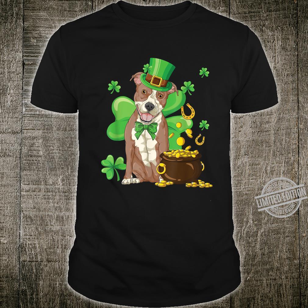 Pitbull St Patrick's Day Irish Dog Shirt
