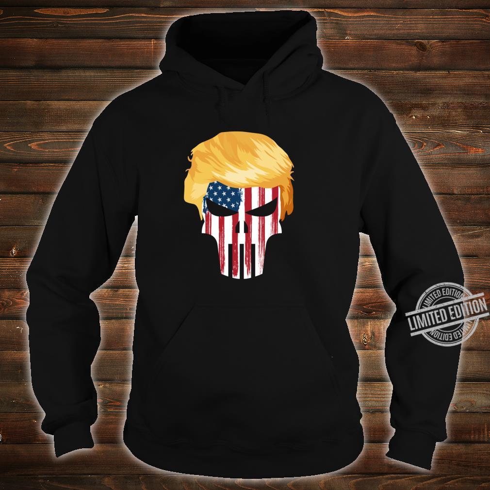 President Trump Hair 2020 American Flag Skull Shirt hoodie