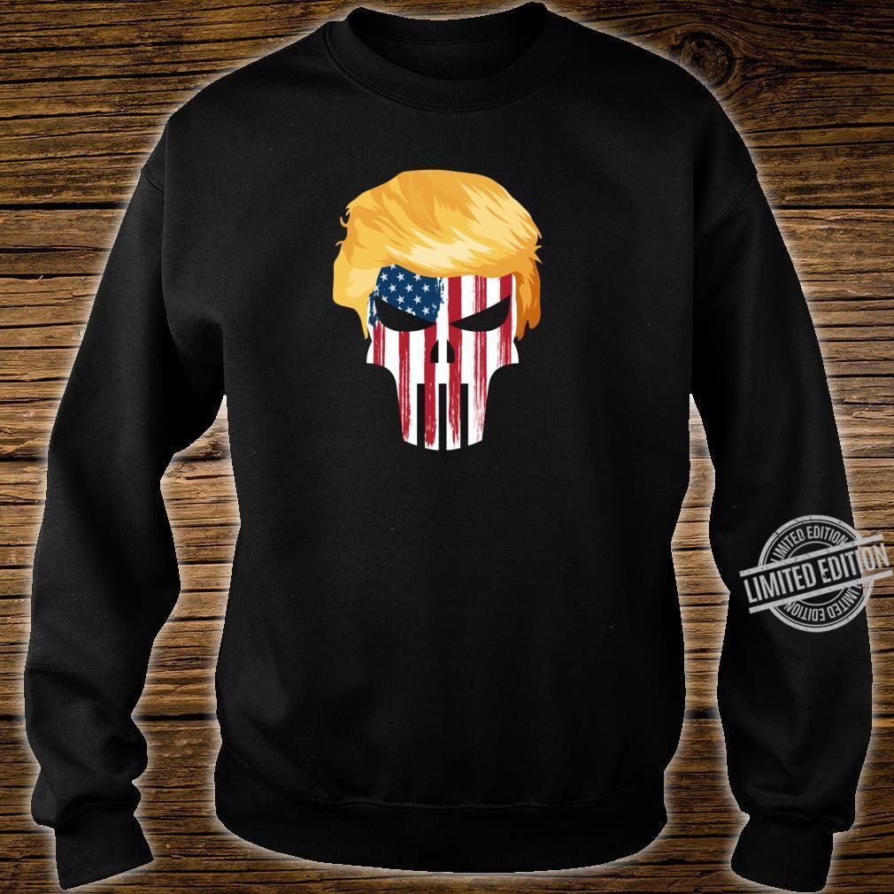President Trump Hair 2020 American Flag Skull Shirt sweater