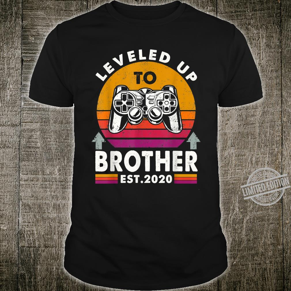 Promoted Leveled Up To Brother 2020 Video Gamer Father's Day Shirt