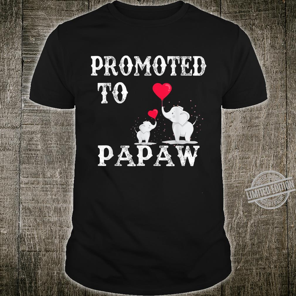 Promoted To Papaw 2020 Angel Fathers Day Shirt