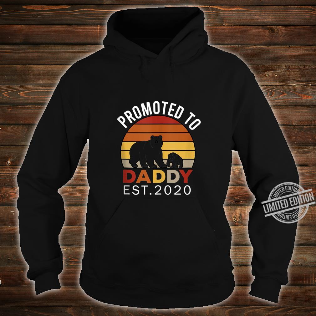 Promoted to Daddy est 2020 Bear Vintage Shirt hoodie