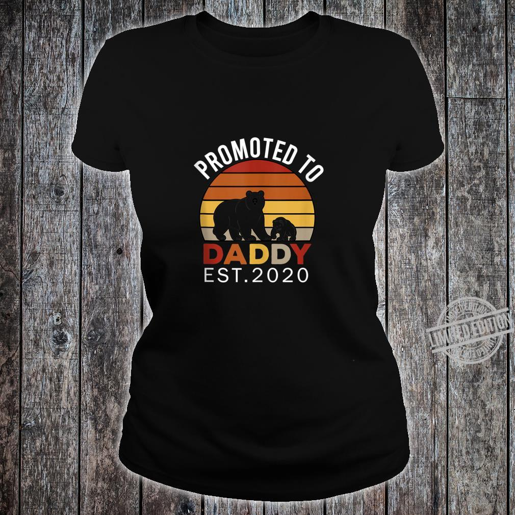 Promoted to Daddy est 2020 Bear Vintage Shirt ladies tee