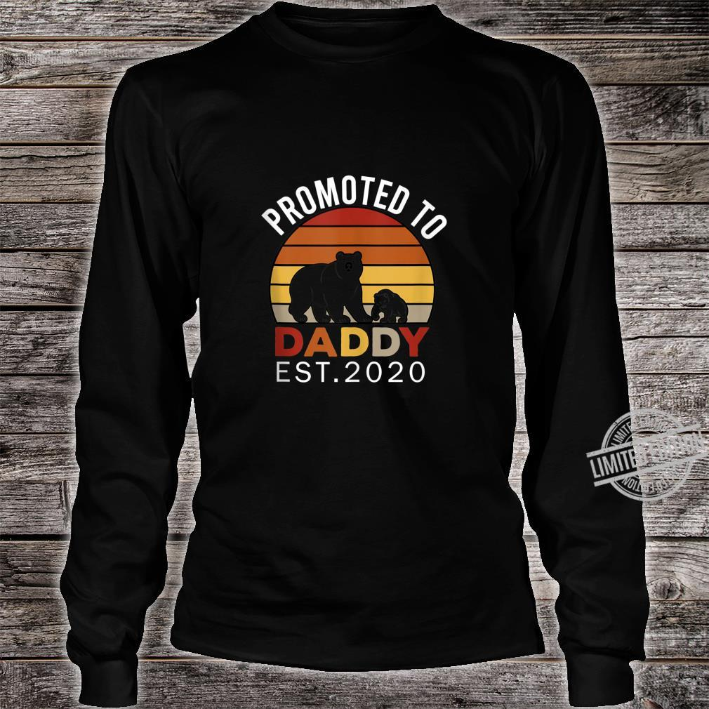 Promoted to Daddy est 2020 Bear Vintage Shirt long sleeved
