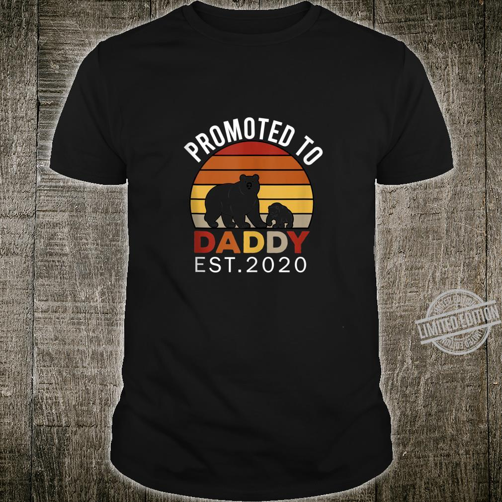 Promoted to Daddy est 2020 Bear Vintage Shirt