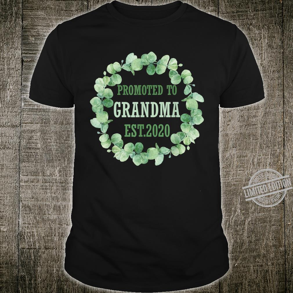 Promoted to Grandma Est 2020 First Time Grandma Floral Shirt