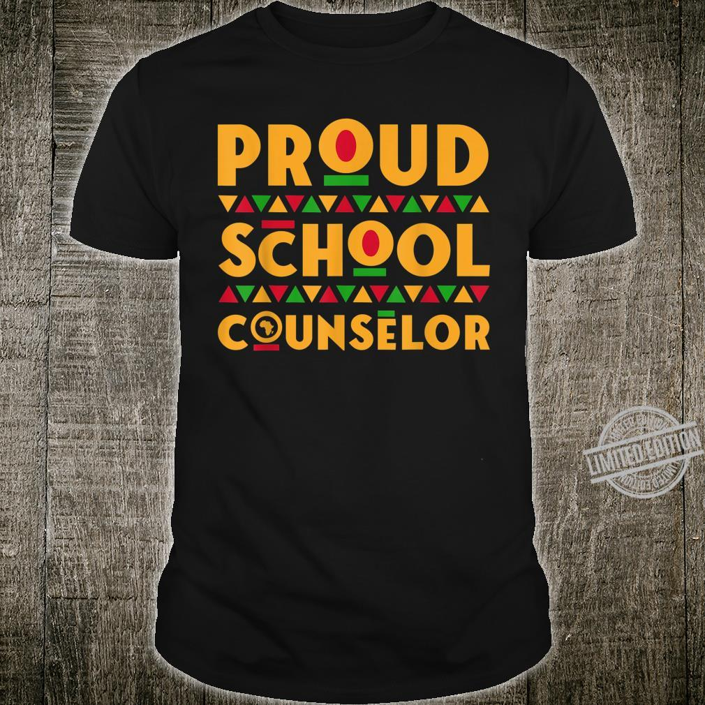 Proud School Counselor Africa Pride Black History Month Shirt