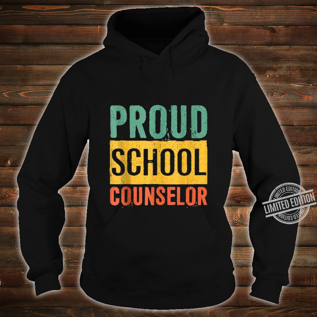 Proud School Counselor Black History Month Shirt hoodie