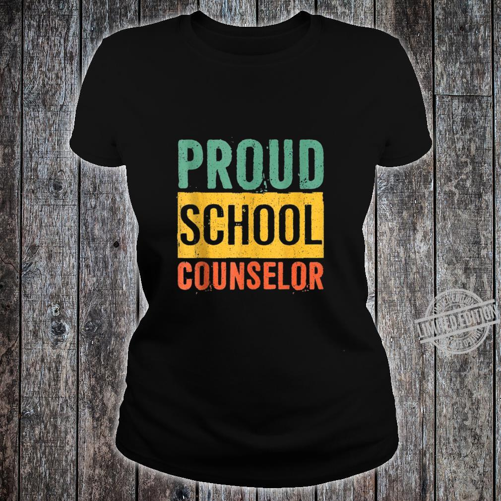 Proud School Counselor Black History Month Shirt ladies tee