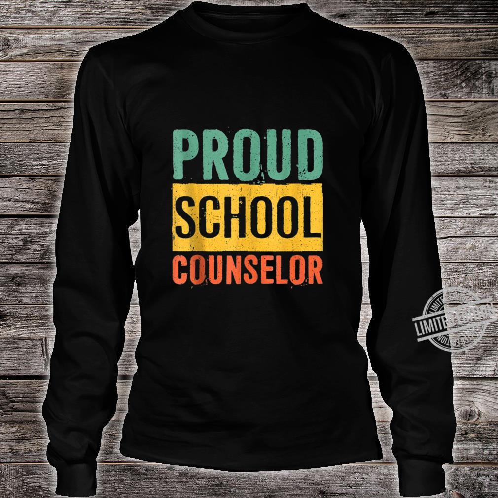 Proud School Counselor Black History Month Shirt long sleeved