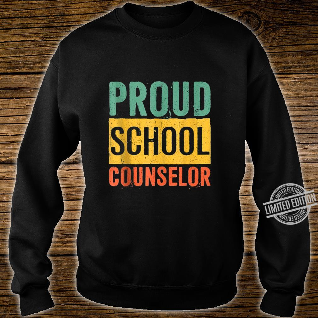 Proud School Counselor Black History Month Shirt sweater