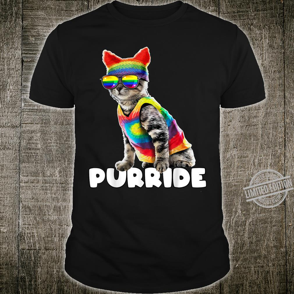 Purride Gay Pride Cat LGBT Parade Rainbow Flag Costume Shirt