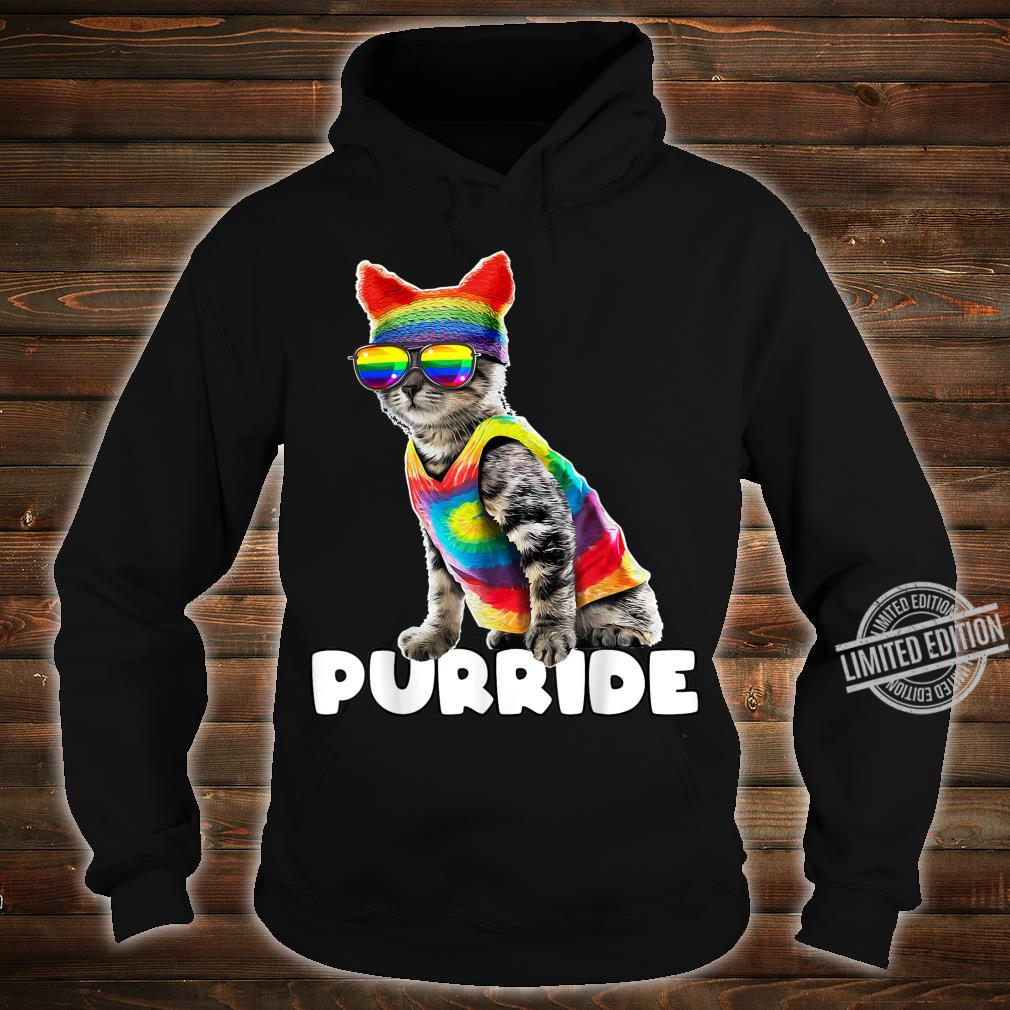Purride Gay Pride Cat LGBT Parade Rainbow Flag Costume Shirt hoodie