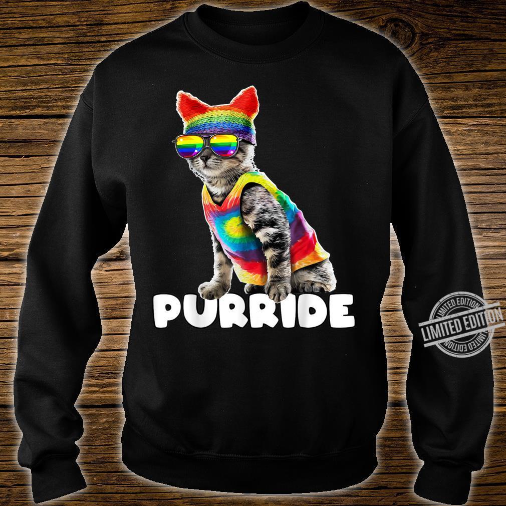 Purride Gay Pride Cat LGBT Parade Rainbow Flag Costume Shirt sweater