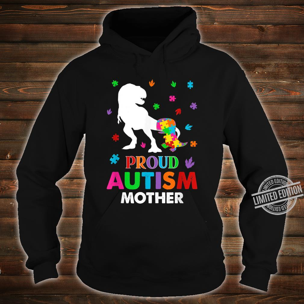 Puzzle Dinosaur Proud Mother Autism Awareness Family Shirt hoodie