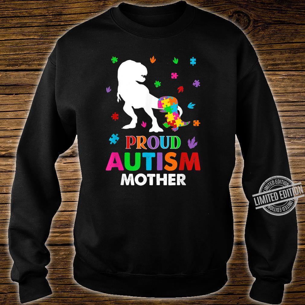 Puzzle Dinosaur Proud Mother Autism Awareness Family Shirt sweater