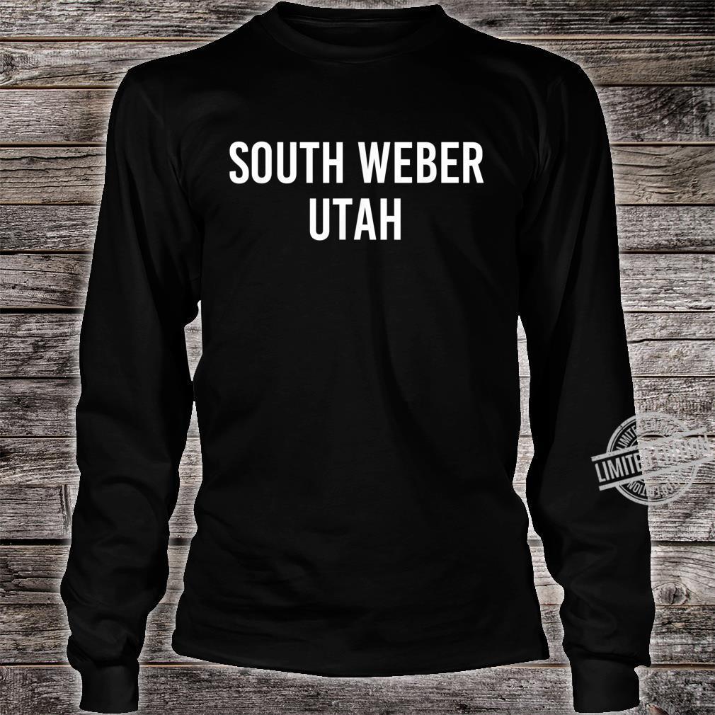 SOUTH WEBER UTAH UT USA Patriotic Vintage Sports Shirt long sleeved