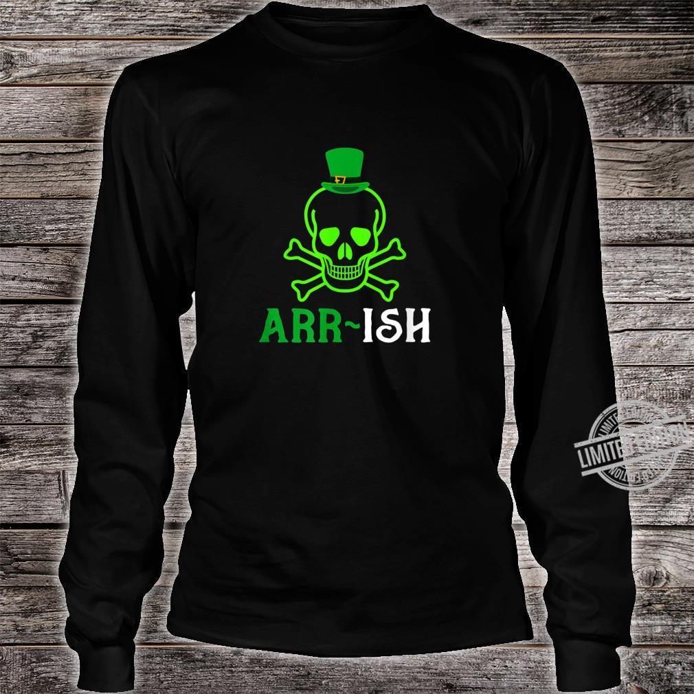 Skull Irish Pirate Saint Patrick Day Shirt long sleeved