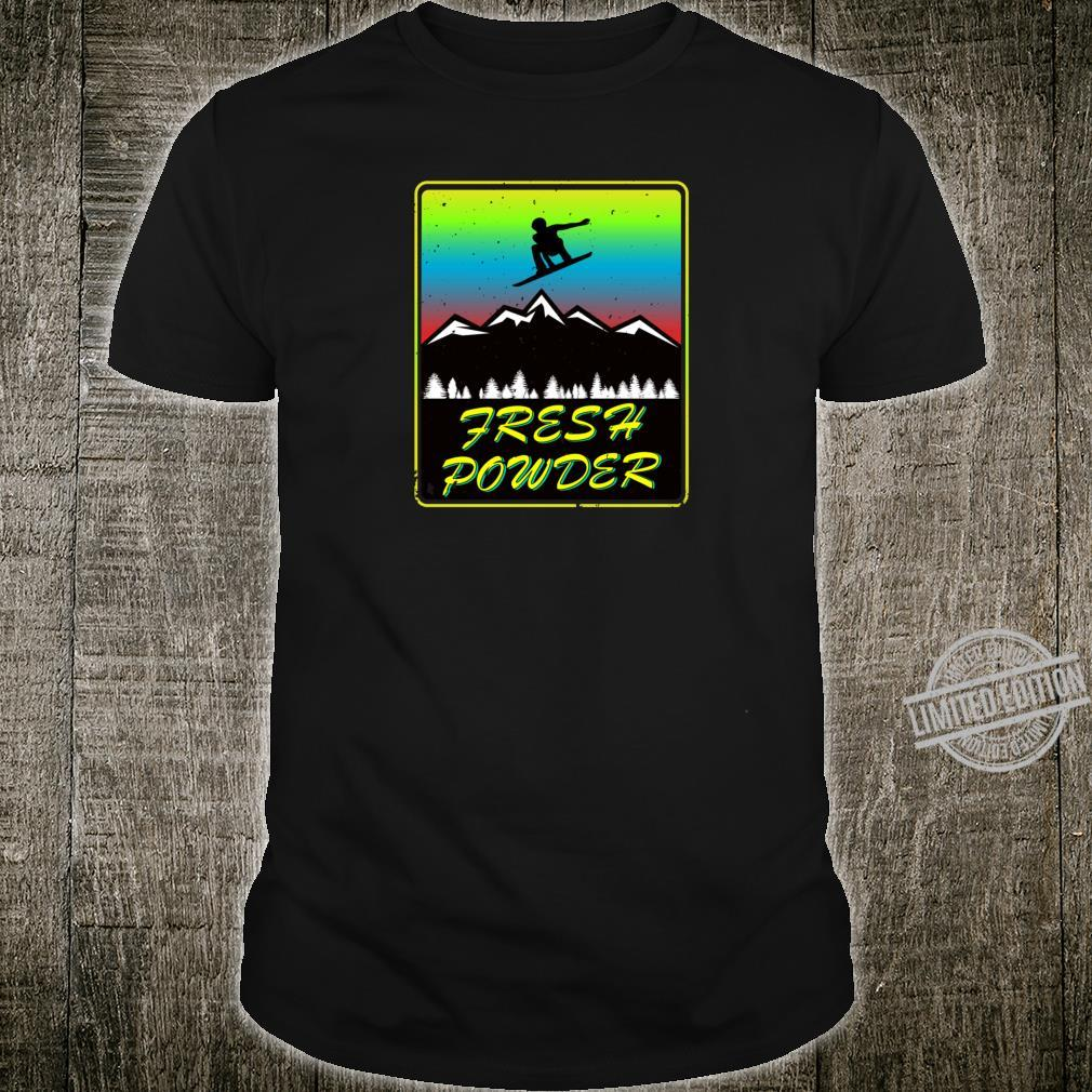 Snowboard skiing goggles mountain in snow for extreme sports Shirt