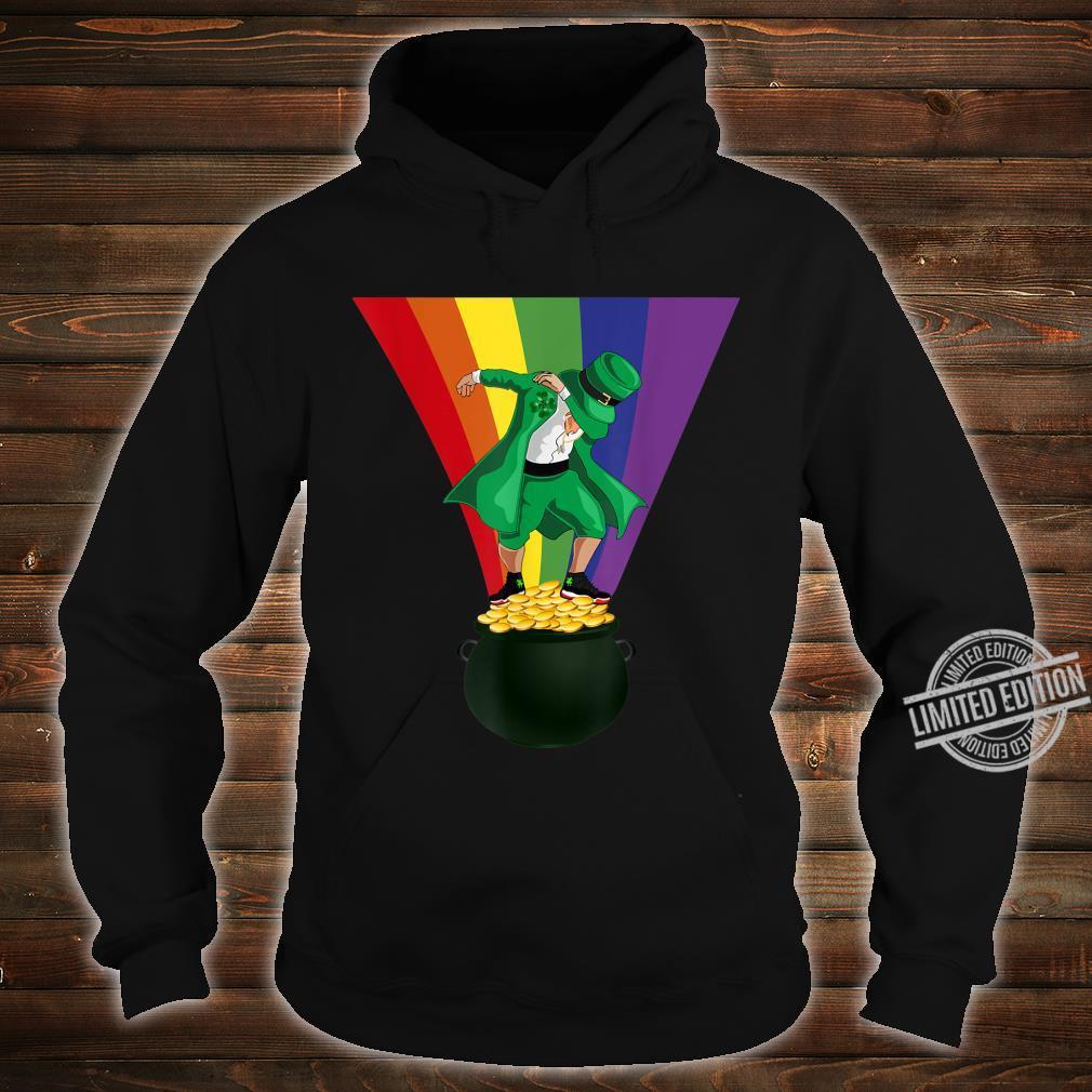 St. Patrick's Day Dabbing Leprechaun Pot of Gold and Rainbow Shirt hoodie