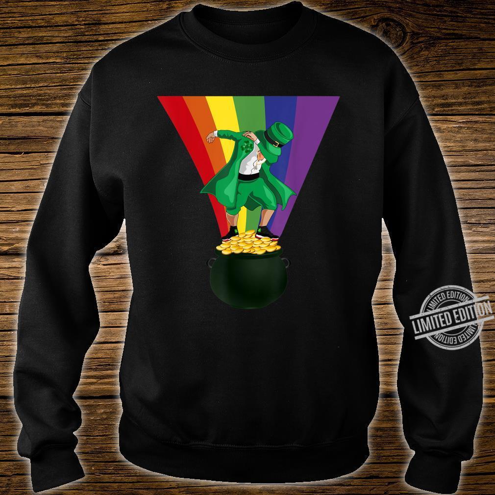 St. Patrick's Day Dabbing Leprechaun Pot of Gold and Rainbow Shirt sweater