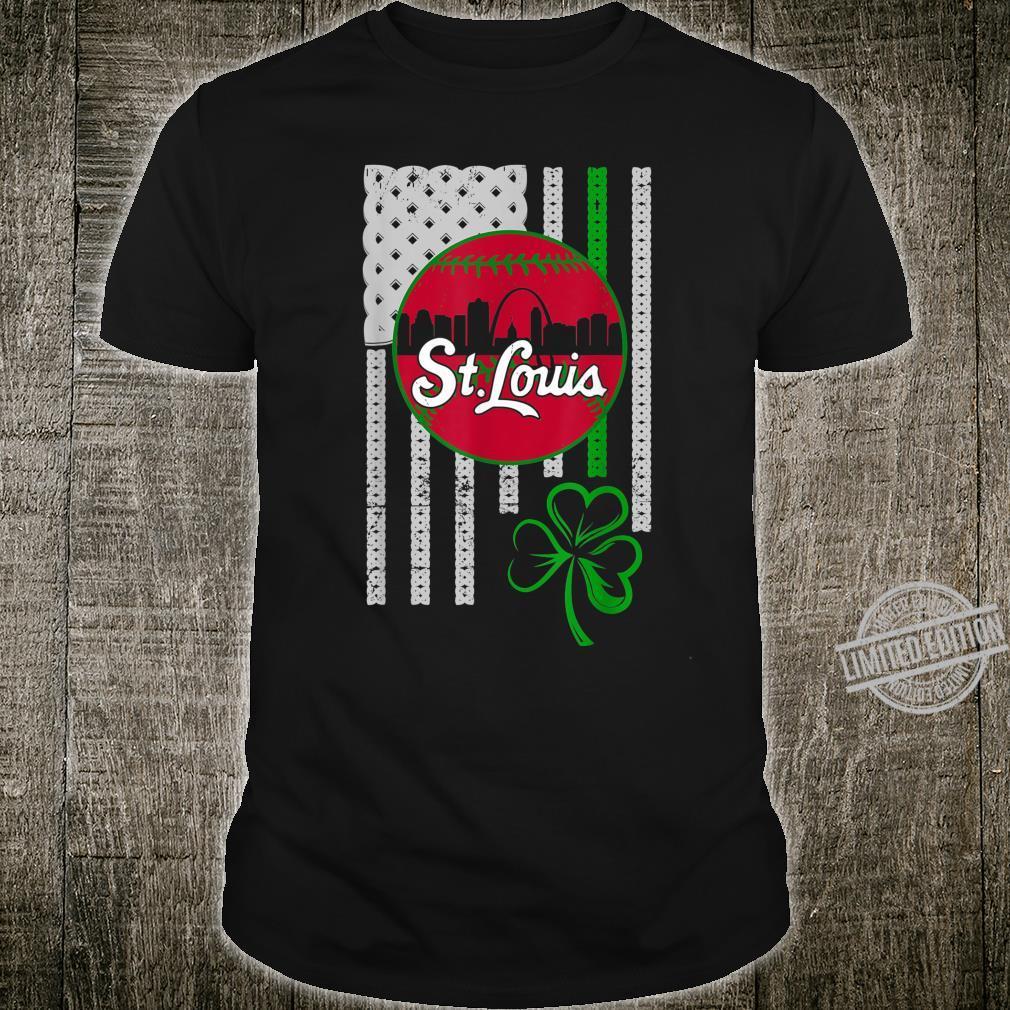 St.Louis Baseball St Patricks Day Downtown Skyline Shamrock Shirt