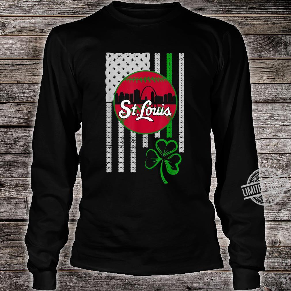 St.Louis Baseball St Patricks Day Downtown Skyline Shamrock Shirt long sleeved