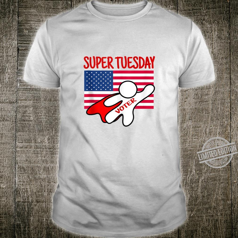 Super Tuesday Primaries American Flag and Red Caped Voter Shirt
