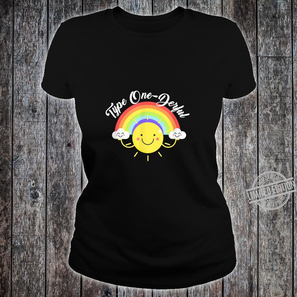 T1D Diabetes Awareness I'm Type 1 OneDerful Shirt ladies tee