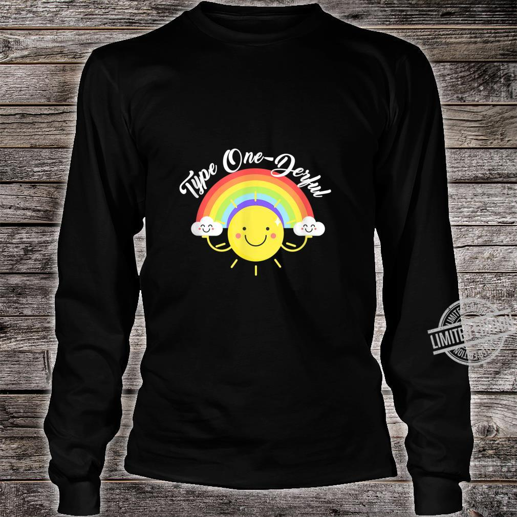 T1D Diabetes Awareness I'm Type 1 OneDerful Shirt long sleeved