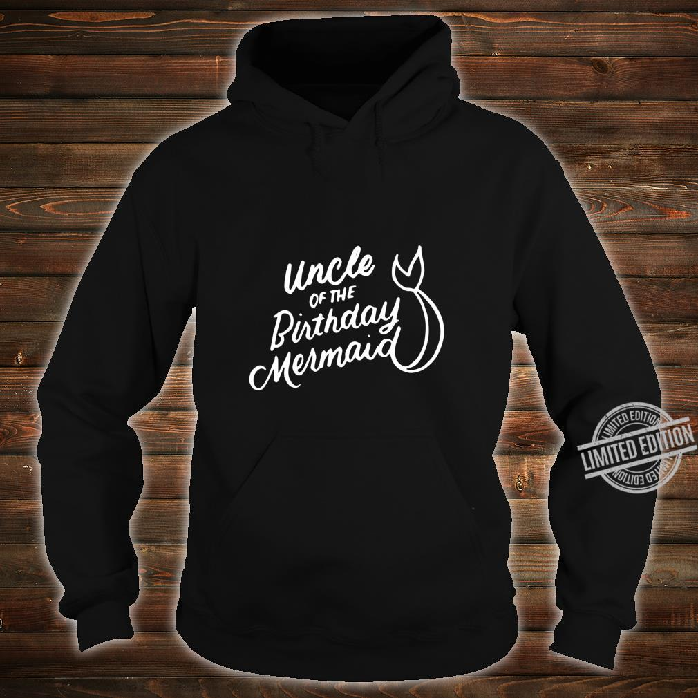 Uncle of the Birthday Mermaid Merman Matching Family Shirt hoodie