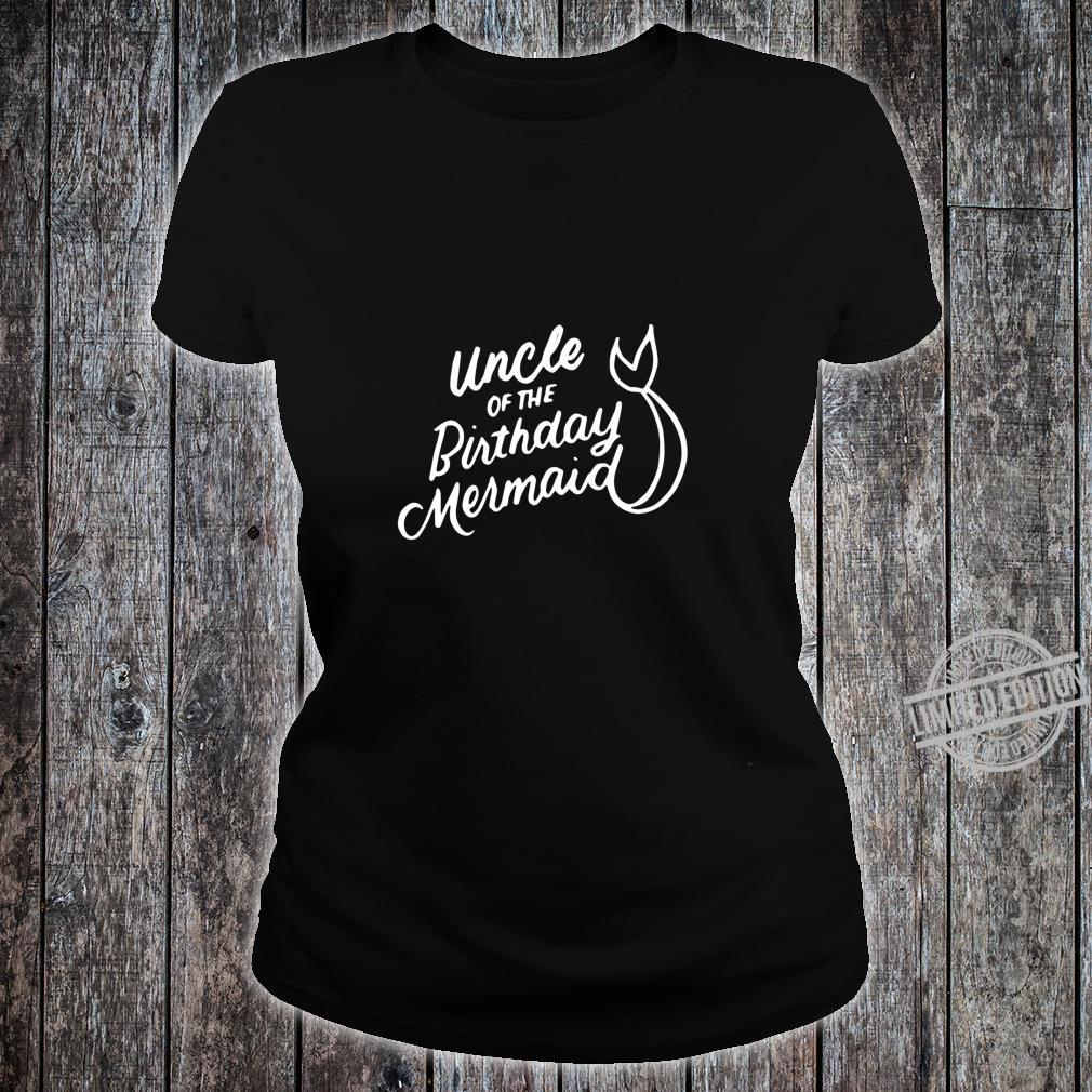 Uncle of the Birthday Mermaid Merman Matching Family Shirt ladies tee