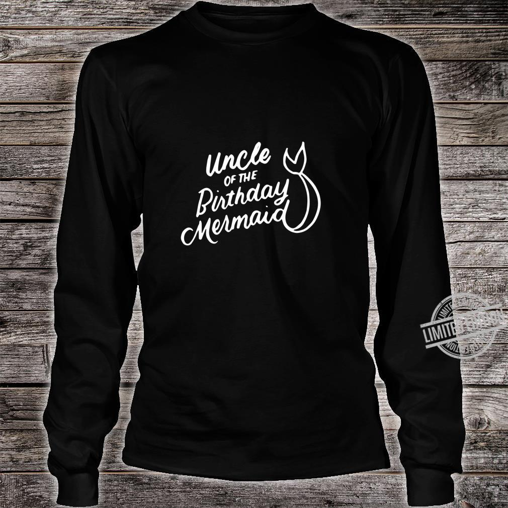Uncle of the Birthday Mermaid Merman Matching Family Shirt long sleeved