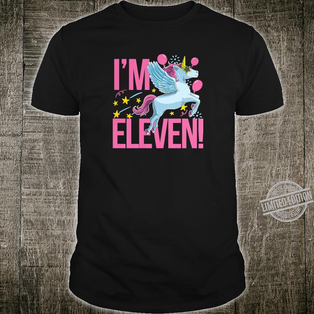 Unicorn Birthday 11 Years Old Girls Shirt