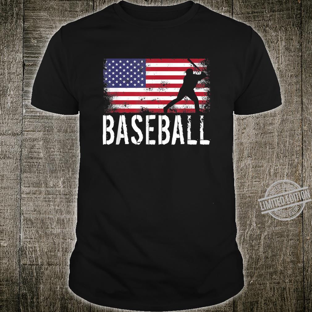 Vintage Baseball League USA Flag American National Player Shirt